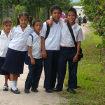 Honduras Kids Going to Shcool
