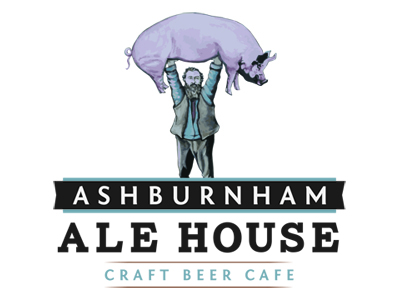 Logo for Ashburnham Ale House restaurant in Peterborough, Ontario